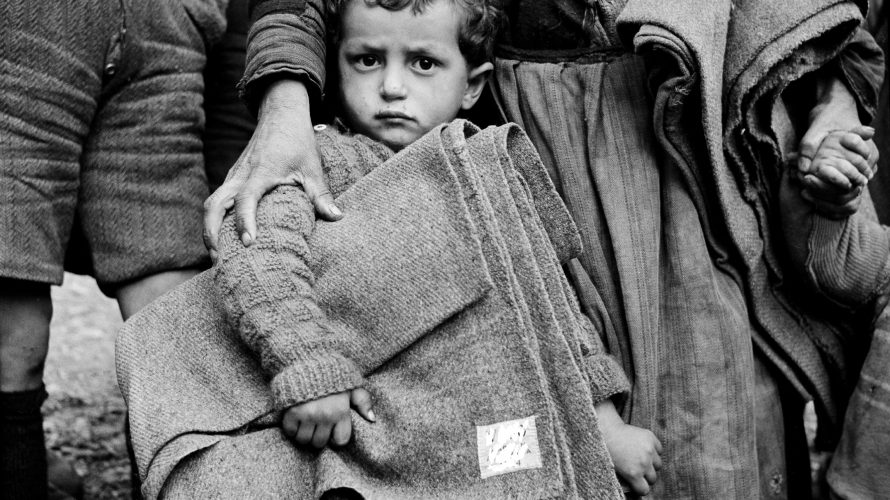 Photos distribution of emergency supplies for children in northern greece circa 1950