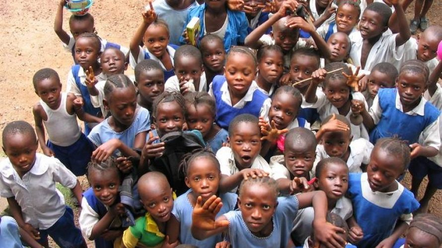 Children of Sierra Leone reaching out for peace