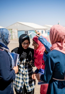 Adolescent girls in Azraq Refugee Camp