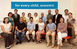 Participants from Eastern Europe and Central Asia meet for introductory training on multidimensional child poverty at UNICEF Innocenti in Florence, Italy July 8-10, 2019.
