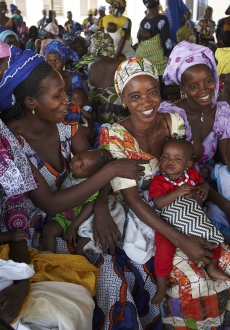 Mothers waiting for cash transfers - The Gambia