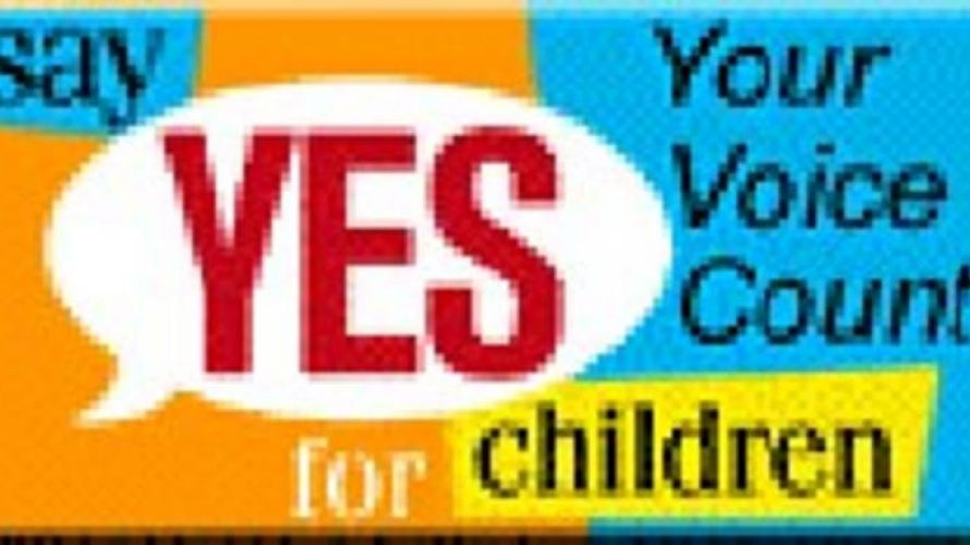 Say yes for children campaign