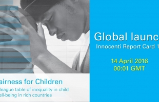 Innocenti Report Card 13: Fairness for children to be launched in Paris