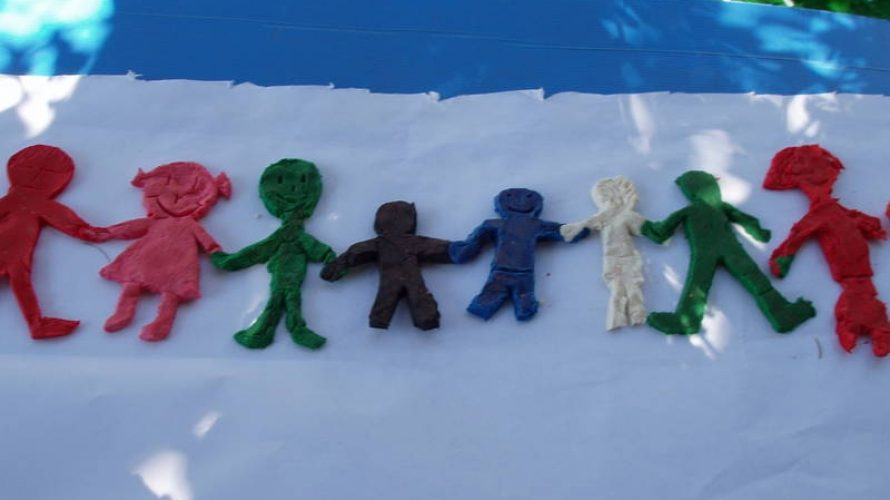A clay model representing diversity, created by some of the children at San Rossore