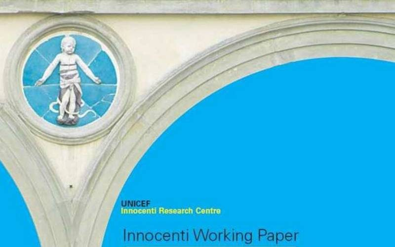 ©UNICEF IRC - Innocenti Working Paper cover page