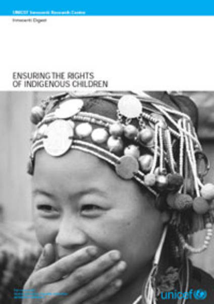 "©UNICEF IRC - International launch of the Innocenti Digest no. 11 ""Ensuring the rights of indigenous children"""