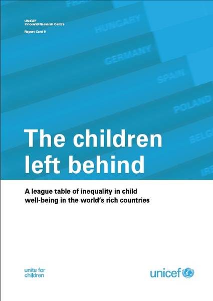 ©UNICEF IRC / 2010 - Report Card 9 - The Children Left Behind