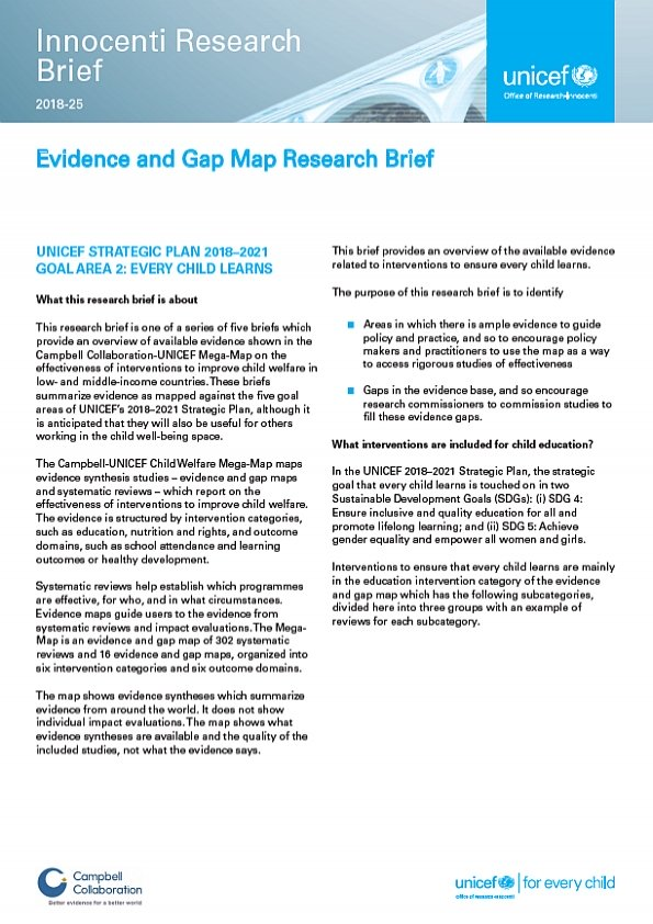 Evidence and Gap Map Research Brief 2