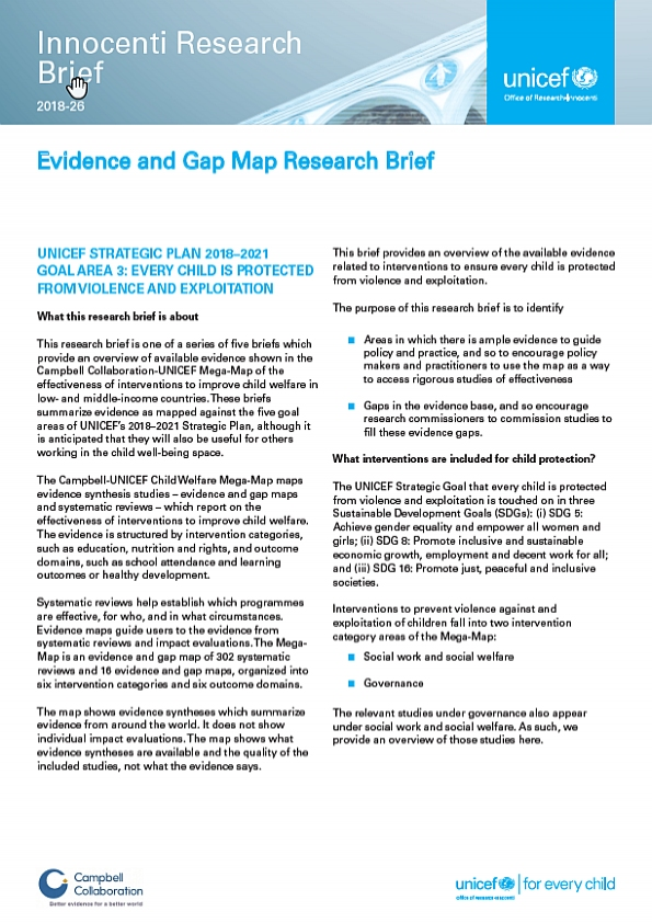 Evidence and Gap Map Research Brief 3