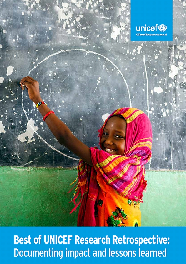 Best of UNICEF Research Retrospective: Documenting impact and lessons learned