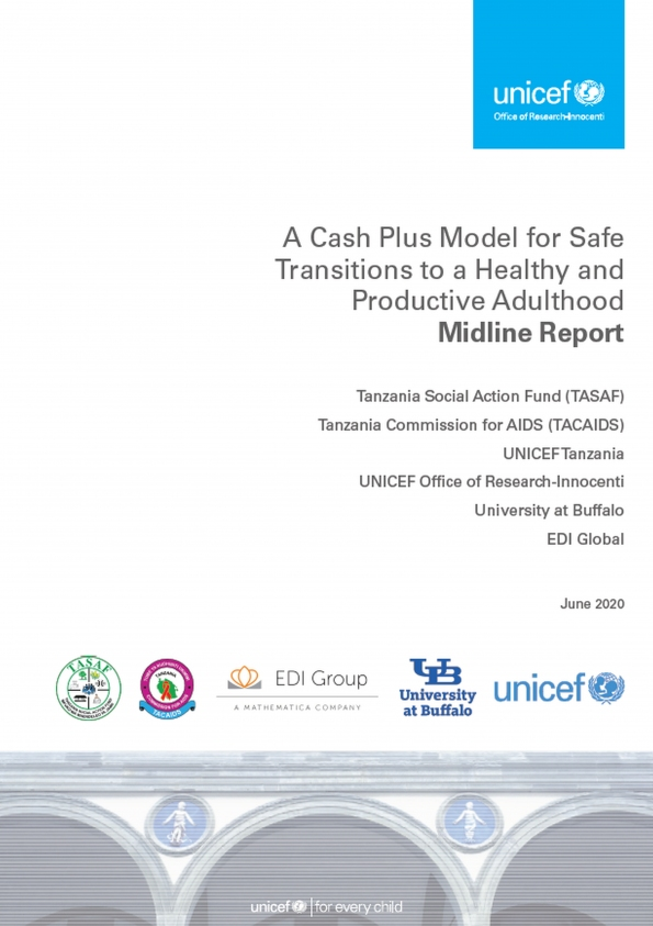 A Cash Plus Model for Safe Transitions to a Healthy and Productive Adulthood: Midline Report