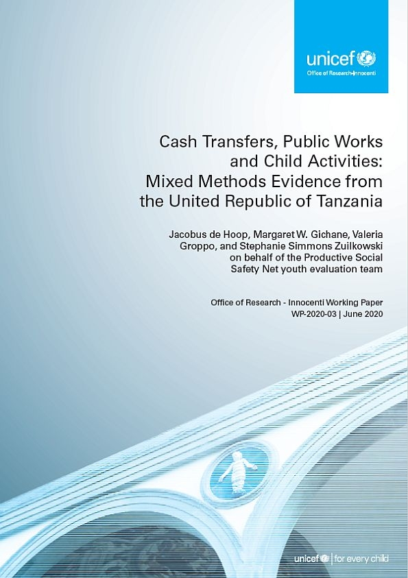 Cash Transfers, Public Works and Child Activities: Mixed Methods Evidence from the United Republic of Tanzania