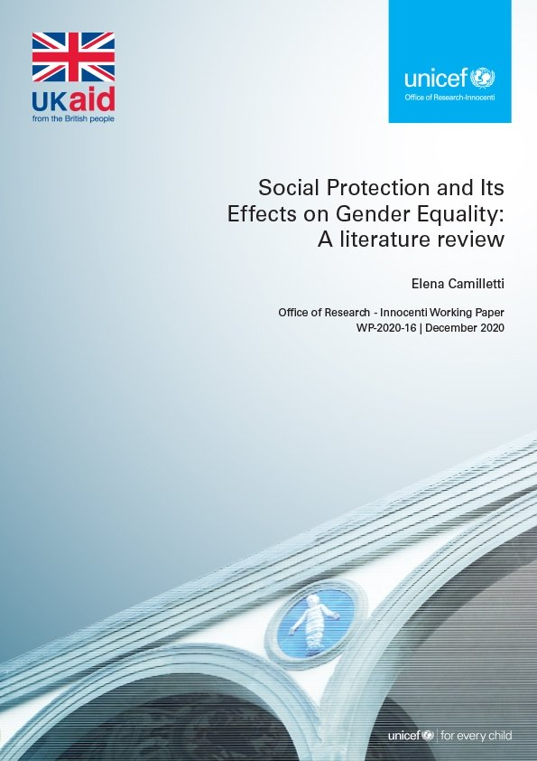 Social Protection and Its Effects on Gender Equality: A literature review