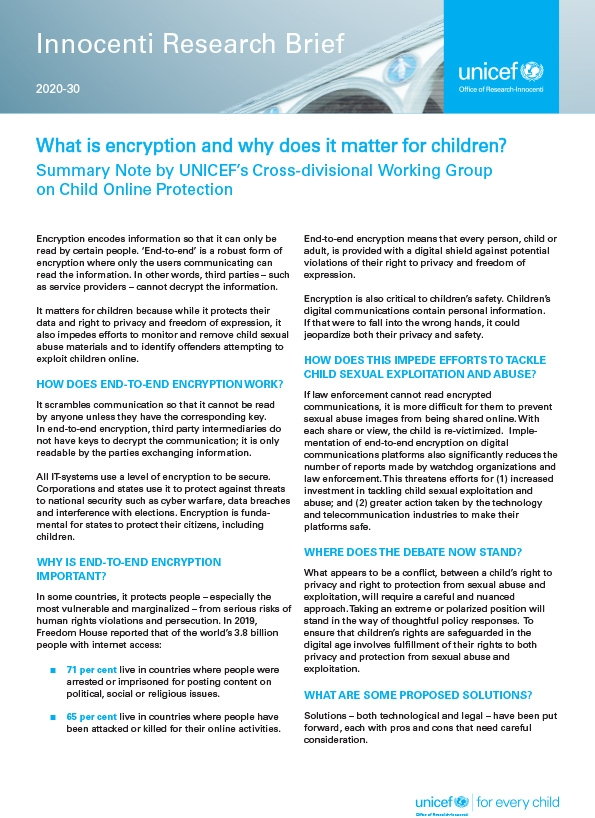 What is encryption and why does it matter for children?