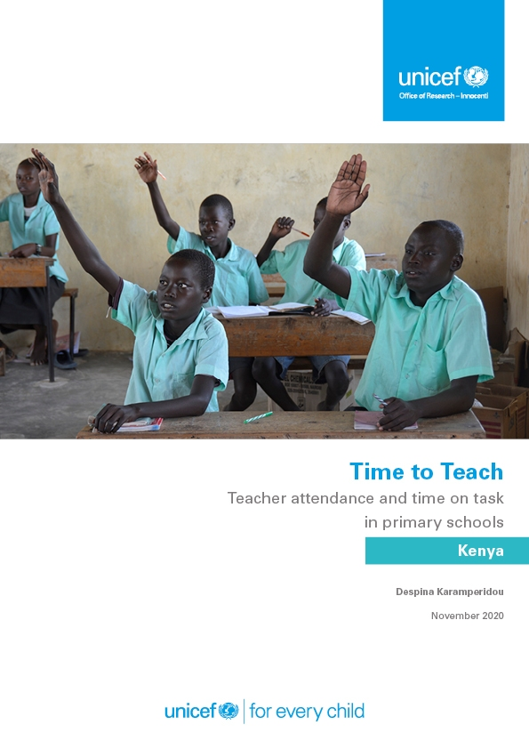 Time to Teach: Teacher attendance and time on task in in primary schools in Kenya