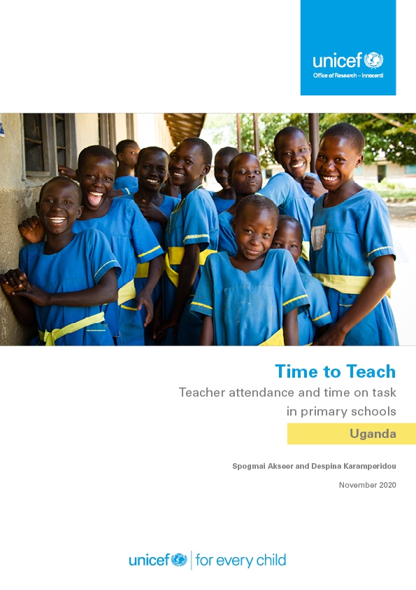 Time to Teach: Teacher attendance and time on task in in primary schools in Uganda