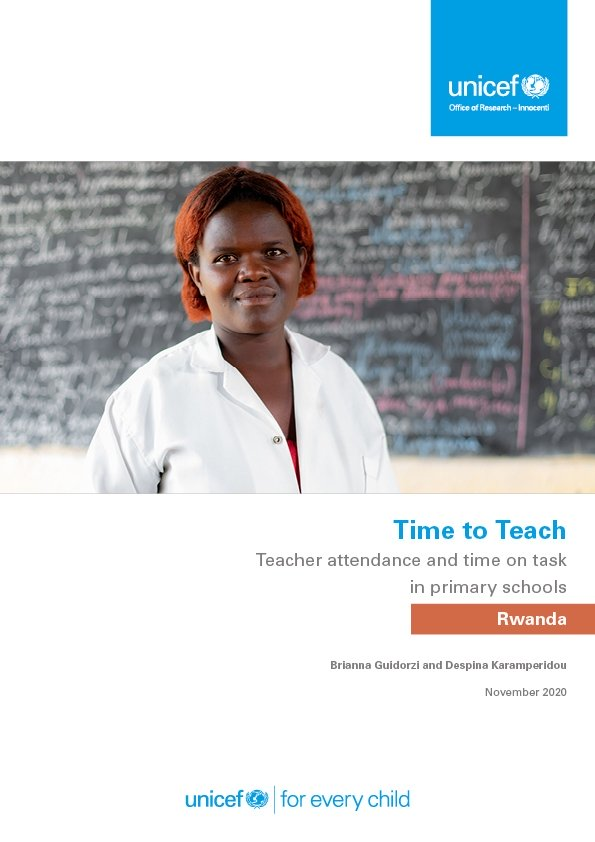 Time to Teach: Teacher attendance and time on task in in primary schools in Rwanda