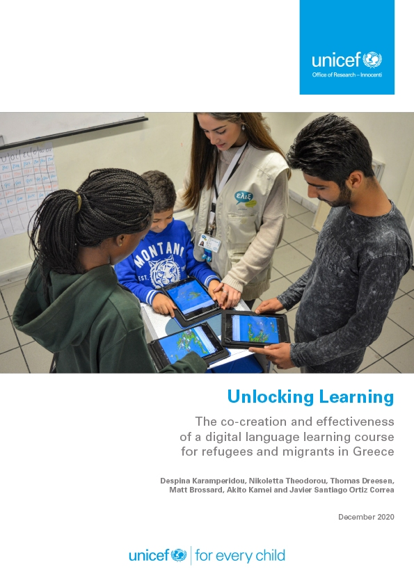 Unlocking Learning: The co-creation and effectiveness of a digital language learning course for refugees and migrants in Greece