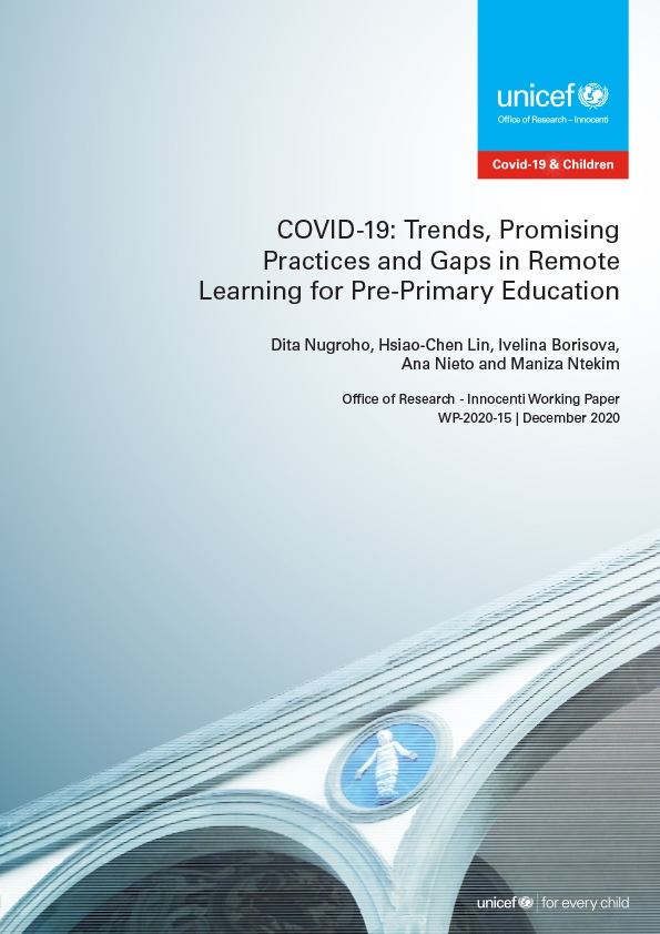 COVID-19: Trends, Promising Practices and Gaps in Remote Learning for Pre-Primary Education
