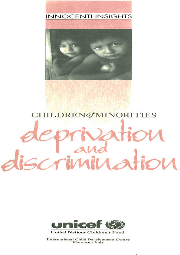 Deprivation and Discrimination