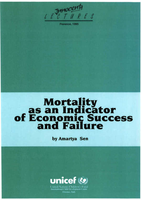 Mortality as an Indicator of Economic Success and Failure