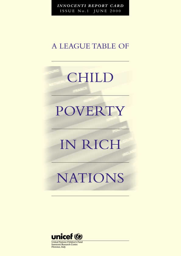 A League Table of Child Poverty in Rich Nations