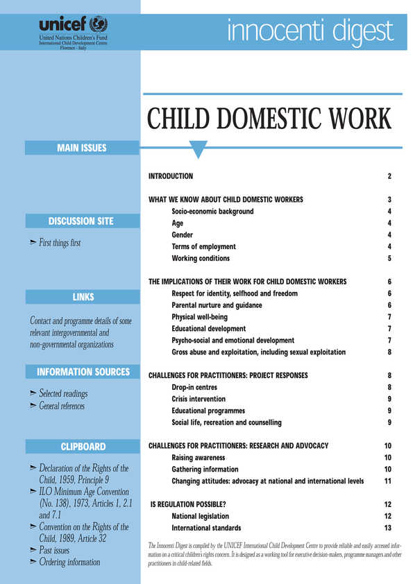 cover Child Domestic Work