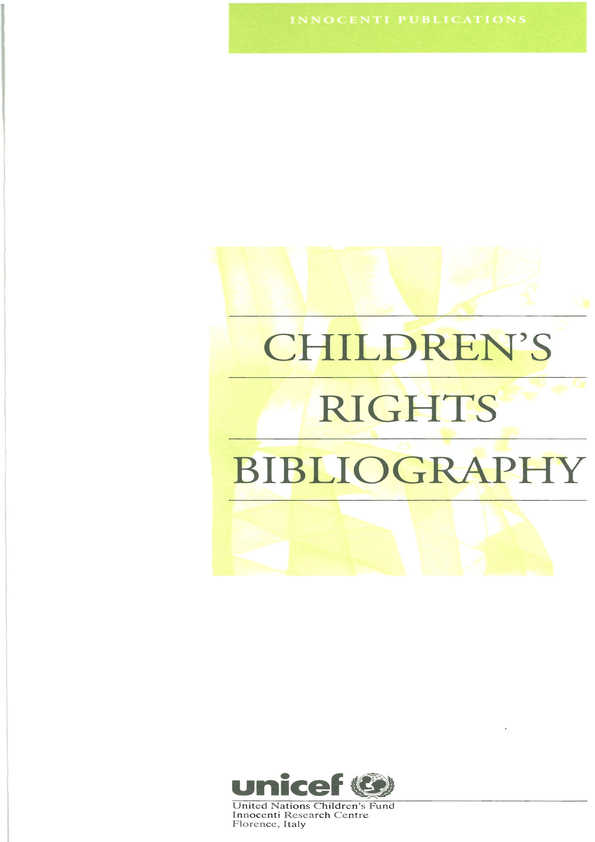 Children's Rights Bibliography