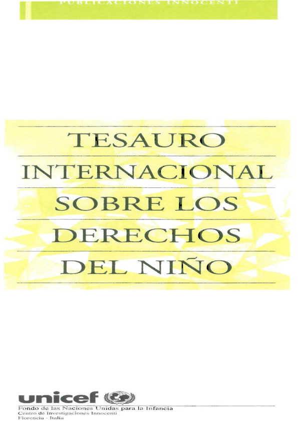 Tesauro internacional sobre los derechos del niño
