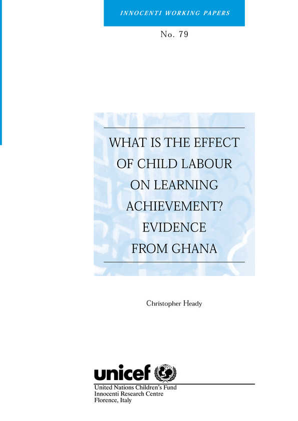 What is the Effect of Child Labour on Learning Achievement? Evidence from Ghana