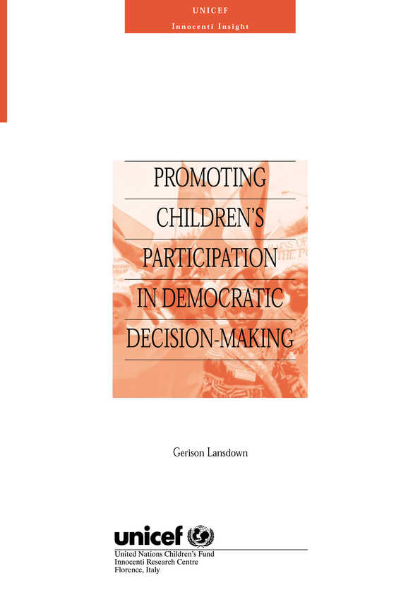 Promoting Children's Participation in Democratic Decision-Making