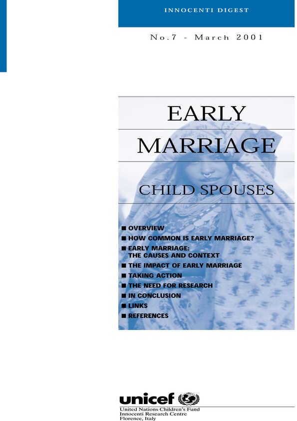 Early Marriage: Child Spouses