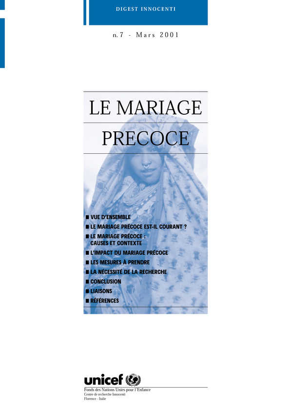le mariage prcoce - Mariage Prcoce Dfinition