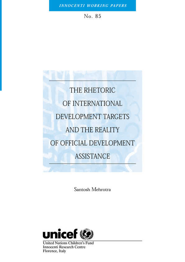 The Rhetoric of International Development Targets and the Reality of Official Development Assistance