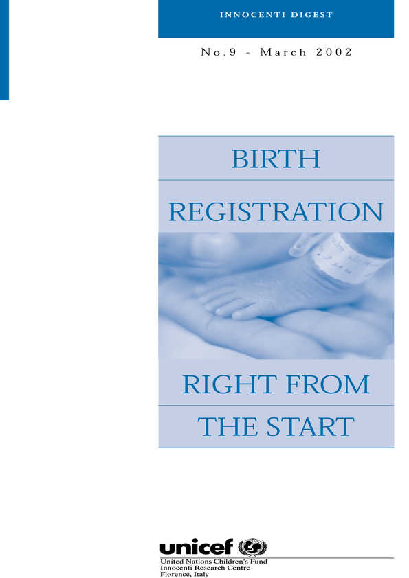 cover Birth Registration: Right from the Start
