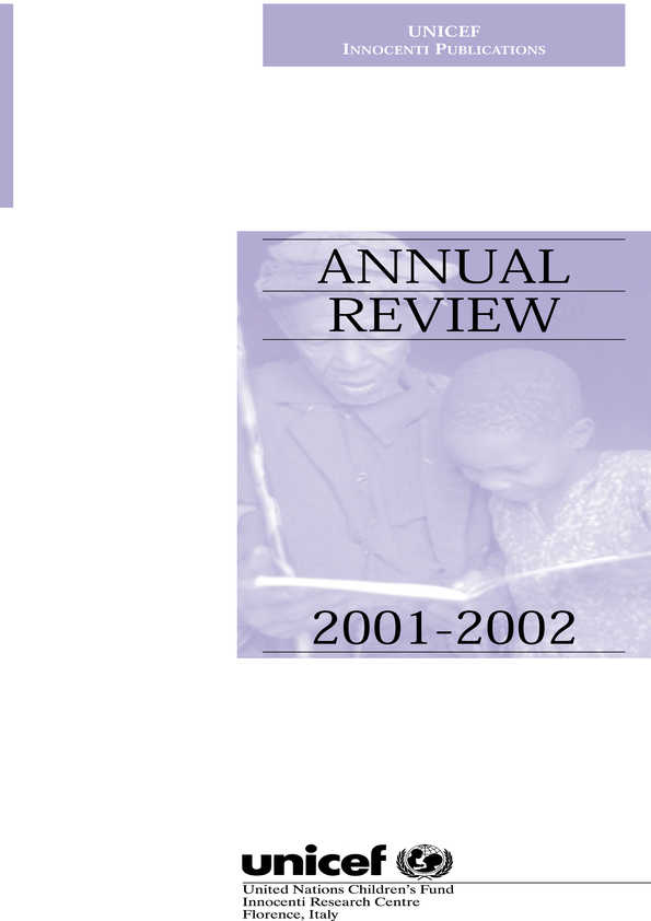 cover Annual Review 2001-2002
