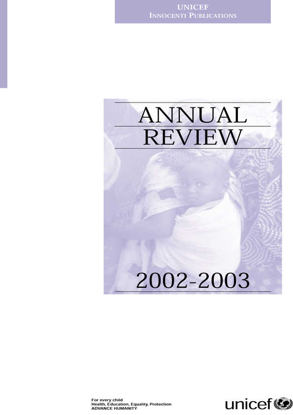 cover Annual Review 2002-2003