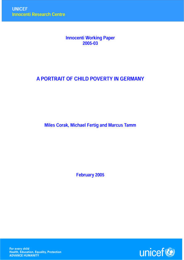 A Portrait of Child Poverty in Germany