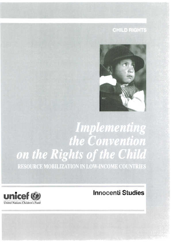 Implementing the Convention on the Rights of the Child: Resource mobilization in low-income countries. Summary