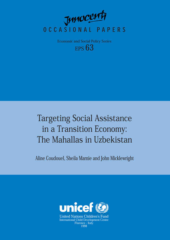 Targeting Social Assistance in a Transition Economy: the Mahallas in Uzbekistan