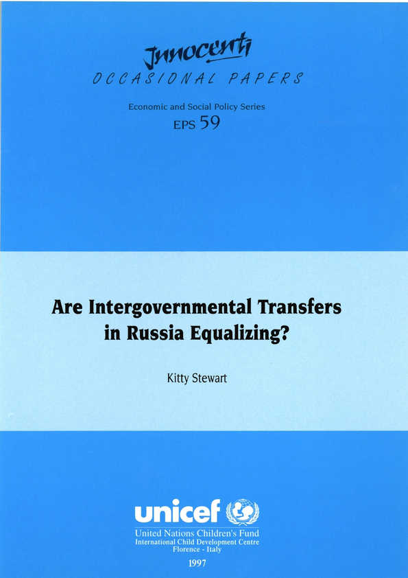 Are Intergovernmental Transfers in Russia Equalizing?