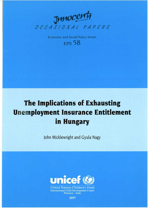 The Implications of Exhausting Unemployment Insurance Entitlement in Hungary