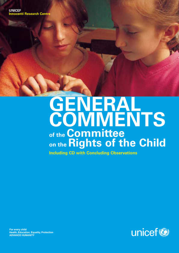 cover General Comments of the Committee on the Rights of the Child (including CD with Concluding Observations)