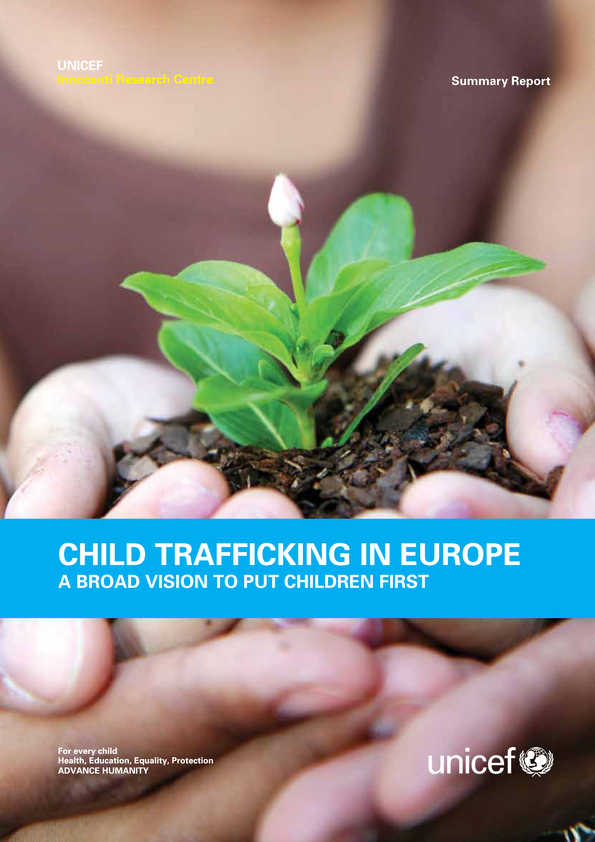 cover Child Trafficking in Europe: A broad vision to put children first (summary)