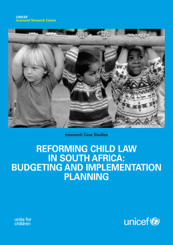 cover Reforming Child Law in South Africa: Budgeting and implementation planning
