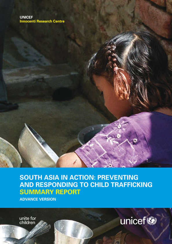 cover South Asia in Action: Preventing and responding to child trafficking. Summary report