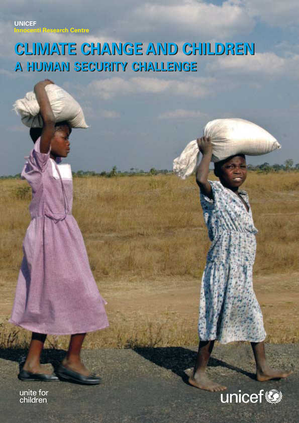 cover Climate Change and Children: A human security challenge. Policy review paper
