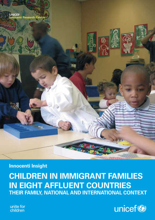 Children in Immigrant Families in Eight Affluent Countries: Their family, national and international context