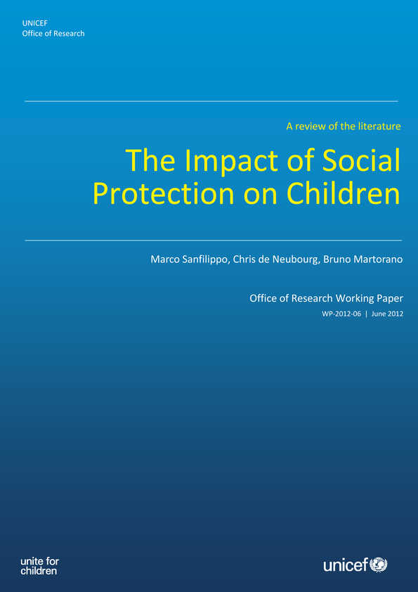 The Impact of Social Protection on Children: A review of the literature