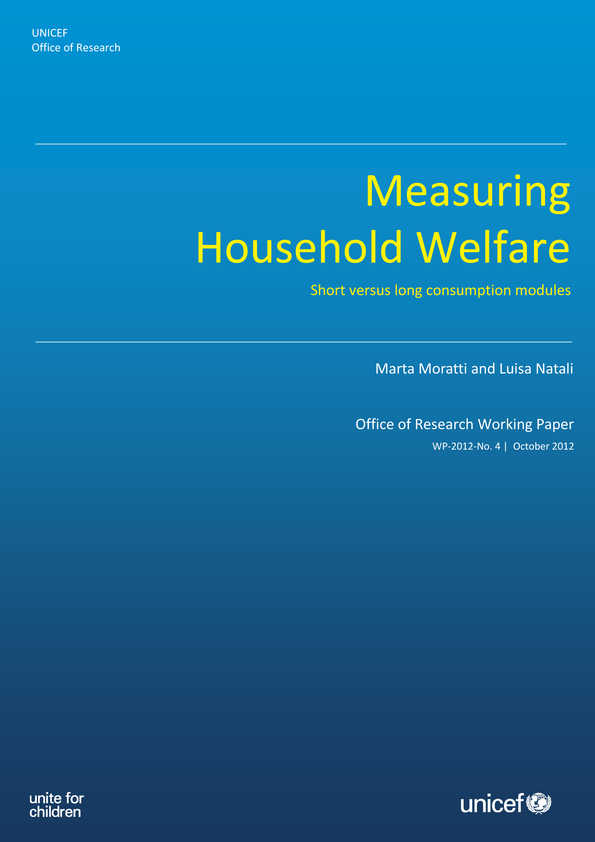 Measuring Household Welfare: Short versus long consumption modules